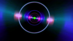 Neon Wormhole Tube Transition To Green Screen - stock footage