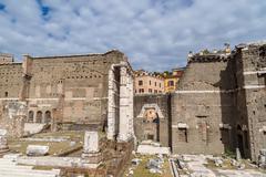 Ancient Roman Forum Ruins Stock Photos