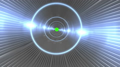 Space Tunnel Wormhole To Green Screen - stock footage