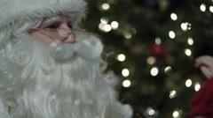 Santa Claus' visit on Christmas Eve - stock footage