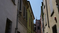 Old buildings in Mantua, Italy Stock Footage