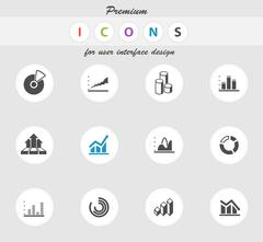 Information graphic icons Stock Illustration