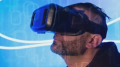 Stock Video Footage of VR virtual reality conception