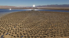 Aerial shot of solar farm - solar power plant, Nevada Arkistovideo