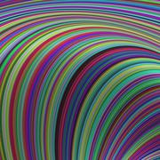 Colorful striped curves - abstract background - stock illustration
