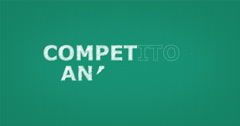 Drawing a word COMPETITOR ANALYSIS Stock Footage