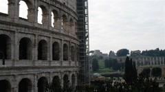 Colosseum or Flavian Amphitheatre in Rome, Italy - stock footage