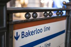 Stock Photo of Bakerloo line sign