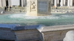 Fountain near Apostolic Palace in Vatican City Stock Footage