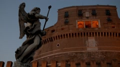 Mausoleum of Hadrian in Parco Adriano, Rome, Italy Stock Footage