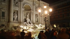 Trevi Fountain in Trevi district in Rome, Italy Stock Footage