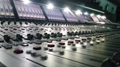 Audio Mixing Console Stock Footage