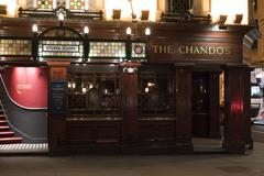 Stock Photo of Beautiful English Pub The Chandos in London St Martins Lane