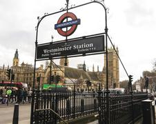 Stock Photo of Westminster Underground Station