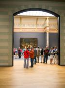 Visitors at Rijksmuseum, Amsterdam - stock photo