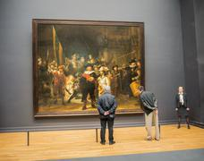 Nightwatch by Rembrandt st Rijksmuseum Stock Photos