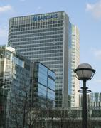 Stock Photo of Barclays Building at Canary Wharf