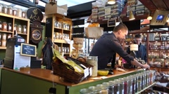 The ASA Spice stall in Torvehallerne, the covered food market in Copenhagen. Stock Footage