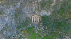 Amintas Rock Tombs Aerial - stock footage