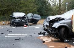 Cars crashed - stock photo