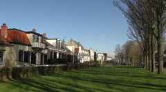 Historic street centre Schiermonnikoog Stock Footage