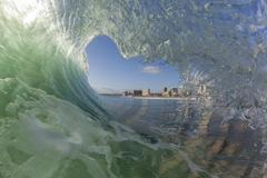 Wave Hollow Inside - stock photo