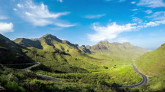 Aldea mountains on Gran Canaria island Stock Footage