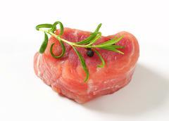 Stock Photo of Pork Fillet Medallion - studio shot