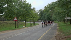 Cyclists participate in the Compendium Midmar Notts Cycle Race Stock Footage
