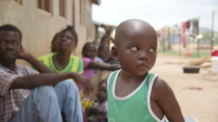 Juba, South Sudan April 2015 - boy in refugee camp Stock Footage