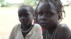 April 2015, South Sudan - children - stock footage