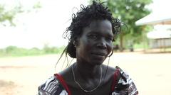 April 2015, South Sudan - woman portrait - stock footage