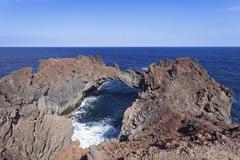 Arco de la Tosca natural arch Punta de la Dehesa El Hierro Canary Islands Spain Stock Photos