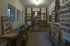 Stock Photo of Exhibition rooms with horseshoes in the Deutsches Hirtenmuseum or German