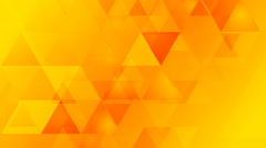 Stock Video Footage of Bright orange geometric tech video animation