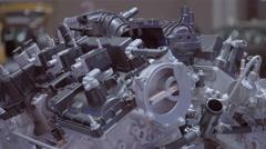 Ford Fusion V6 Engine. 2016 Toronto International Auto Show. - stock footage