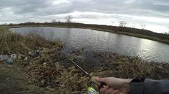 Go Fishing 4K Ultra HD Video - stock footage
