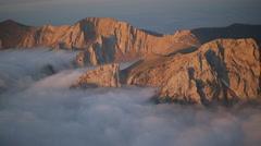 Aerial Mountain Montana Sunrise 010 Stock Footage