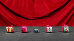 Dancing Miniature Gifts Stop Motion Time Lapse - stock footage
