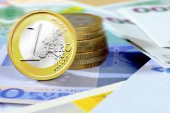 One euro coin Stock Photos