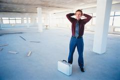 Troubled businessman Stock Photos