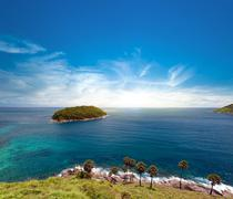 Stock Photo of Island and blue sky of summer day. Phuket, Thailand
