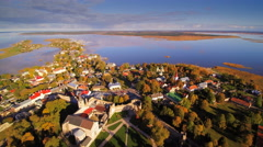 The view of Haapsalu town in 360 degrees Stock Footage