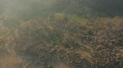 Aerial Mountain Montana Sunrise 007 Stock Footage