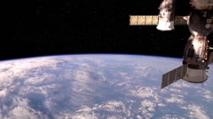 Space Station Flyover - stock footage