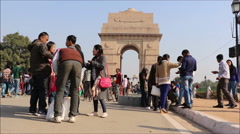 India Gate, New Delhi, India Stock Footage