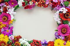 Stock Photo of Background of flowers for congratulation.