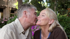 Affectionate mature couple Stock Footage