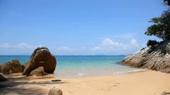 Coastline, Petani Beach, Perhentian Kecil,  Perhentian Islands, Malaysia Stock Footage