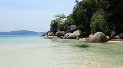 Coastline, Perhentian Besar,  Perhentian Islands, Malaysia Stock Footage